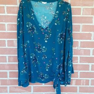 🔥2/$25 Eyeshadow boho floral tunic top 1X